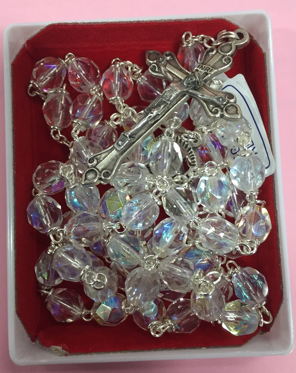 Rosary beads crystal