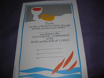 Certificate Communion