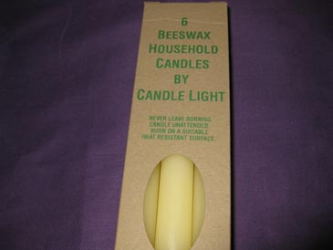 Candles Household Bees Wax packet of 6