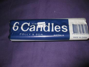 Candles Household White packet of 6