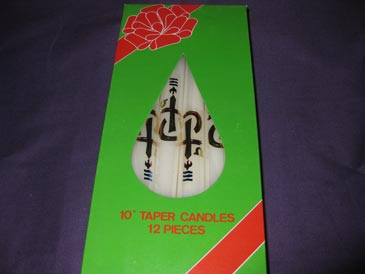 "Baptism Candle box 10""taper"
