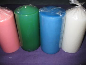 Candles 10x3 assorted colours